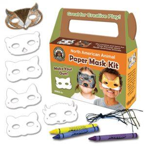 North American Animal mask kit white